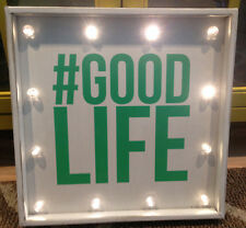 "Make Market #Good Life metal~light up~ shelf/wall Sign~13"" x 13"" Home Decor"