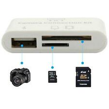 3 in 1 Camera Connection Kit Card Reader for iPad iPhone Adapter USB Connection