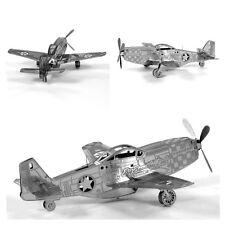 3D Laser Cut Building Metal Model Kit Puzzle Educational DIY- P-51 Mustang Plane