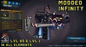 Borderlands 3 Modded INFINITY Pistol LVL 1 or 65 👑 In All Elements - XBOX PS4