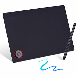 Professional Graphics Drawing Tablet Writing Board with Controller Knob K5B4