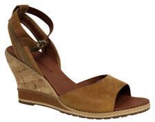 Sandali e scarpe Timberland per il mare da donna marrone , Materiale 100 % pelle