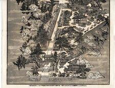 JAPAN: ANTIQUE WOODBLOCK PRINT / KOTOHIRA-GU SHRINE / KAGAWA / TAISHO 7 (1918)