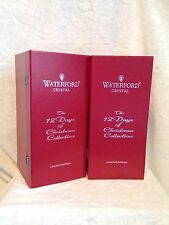 SET OF 2- 12 Days Christmas Waterford Flutes Champagne Glasses 4 CALLING BIRDS