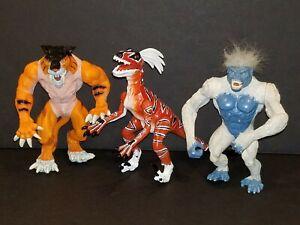 "Primal Rage 6"" Action Figure Lot Talon Blizzard Slashfang 1996 Playmates Atari"