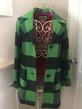Billabong Green Plaid Coat Junior Size Large Women's Small