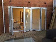 4m x 2.1m,NEW Quality Aluminium Bi fold Doors inc Glass 4 panels. WITH BLINDS