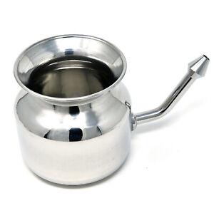 Steel-Neti-Pot-for-Sinus-Congestion-Ayurvedic-JalNeti-By-Wondercare thumbnail__