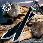 "24"" HUNTING SURVIVAL Sawback Military FULL TANG MACHETE Fixed Blade Knife SWORD"
