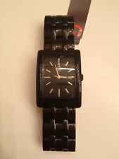 """New """"G"""" by Guess Black Stainless Steel Logo Watch..G89000G1.."""