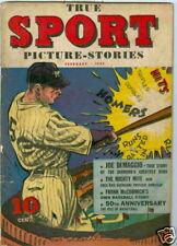 True Sport Picture-Stories #5 Feb 1942 Joe Dimaggio
