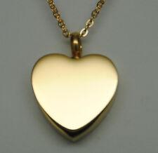 Gold Heart Urn Necklace Gold Cremation Jewelry Keepsake Memorial Urn Pendant