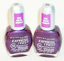 2 Maybelline Express Finish Nail Color GRAPE TIMES #896
