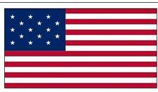 3x5 ft STAR SPANGLED BANNER FLAG 15 Stars 15 Stripes Lightweight Print Polyester
