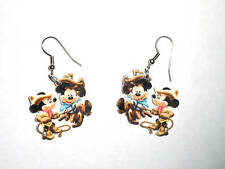 Mickey Mouse Earrings Minnie Mouse Cowboy Western Charms