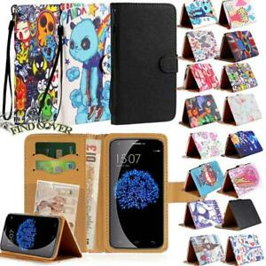 For Doogee X Series Smartphones - Flip Leather Wallet Stand Cover Phone Case
