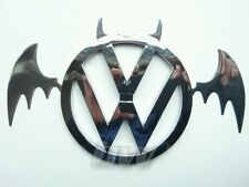 110MM VW BADGE & BAT ADD ON SILVER VOLSWAGEN GOLF TRANSPORTER CAMPER POLO GTI R