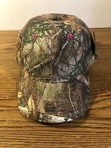 REALTREE NEW Edge Ladies Camouflaged Adjustable Hat Cap Real Tree Outdoor CAMO