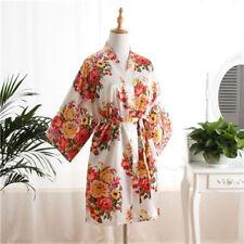2017 Floral satin bridesmaid robes gowns bride bath robe wedding kimono robes