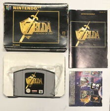 Zelda Ocarina Of Time N64 Boxed With Instructions Tested PAL Protector Nintendo