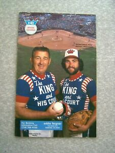VINTAGE 1977 THE KING AND HIS COURT SOFTBALL OFFICIAL PROGRAM EDDIE FEIGNER
