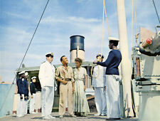 The African Queen Humphrey Bogart Katharine Hepburn Theodore Bikel Rare Photo