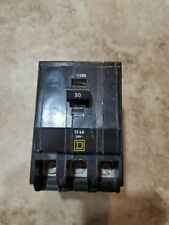 Square D Qob380Vh, 80 Amp, 240 Volt, 3 Pole, Black, Circuit Breaker Used, No Box