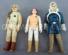 Vintage Star Wars Figures Rebel Commander Princess Leia & Han Solo Hoth Gear '80