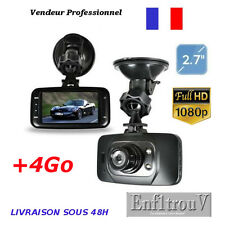 """Caméra de Voiture +4Go Dash Cam FULL HD 1080P 2.7"""" HDMI Vision Nocturne GS8000L"""