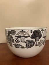Finel Arabia Kaj Franck enamel bowl mushroom mid century