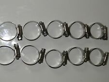 "10 Ideal 1"" All Stainless Steel Hose Clamps Size16 (18-38mm)Poly Pipe Water Well"