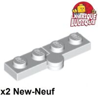 4 LEGO Light Grey Hinge Plate Top 2 x 4 with 6 Studs and 3 Pin Holes 43045 98286
