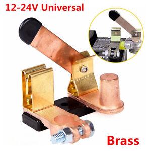 Universal Battery Disconnect Knife Blade Switch Top Post Brass Shut off 12V-24V