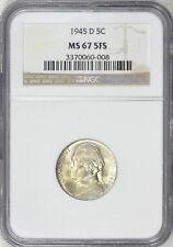 1945-D Jefferson Nickel NGC MS-67 5FS