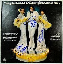 TONY ORLANDO AND DAWN In-person Signed Album - Greatest Hits