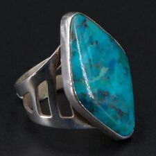 Sterling Silver - JAY KING Stamped Turquoise Stone Ring Size 8 - 8.8g