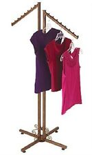 Clothing Rack Two Way 2 Slant Arms Clothes Garment Retail Display Copper 72""