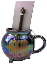More details for disney store hocus pocus cauldron mug cup and broom shaped spoon set witch new