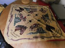 1950s Show Jumping Yellow Scarf