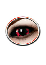 Sclera Kontaktlinsen Red Demon, LARP farbig Halloween Fasching K