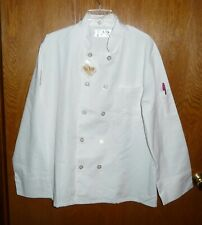 Nwt White Chef Jacket/Coat Unisex sz Med. Long Sleeve w 2 Pockets By DuPont