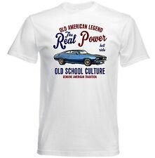 Vintage Voiture Américaine FORD XB GT Coupe-Nouveau T-shirt en coton
