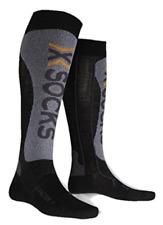 X-SOCKS X-FACTOR Mens Socks - Black/Grey Moulinè, Size 42/44