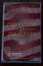 Remembering Patsy Cline & Jim Reeves, Nice Vintage Cassette Tape, VG COND