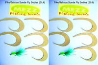 Fly Fishing Suede Pike/Salmon Fly Bodies (SL4) ( 2 pack of 5 bodies)