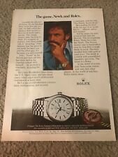 Vintage ROLEX DATEJUST CHRONOMETER Watch Print Ad JOHN NEWCOMBE TENNIS RARE