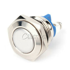 16mm Start Horn Button Momentary Stainless Steel Metal Pushbutton Switch