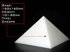 Orgonite Casting Giza Pyramid Mold, 160 X 160mm Base, Self-Lubricating HDPE