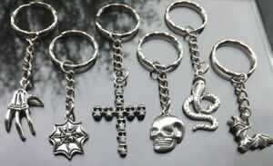 12 Halloween Themed Metal Keyrings Trick or Treat Party Bag Gifts Wholesale