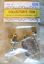 "Collectable Dolls House Accessories - ""Silver"" Metal Tea Set - Nostalgia - BNIP"